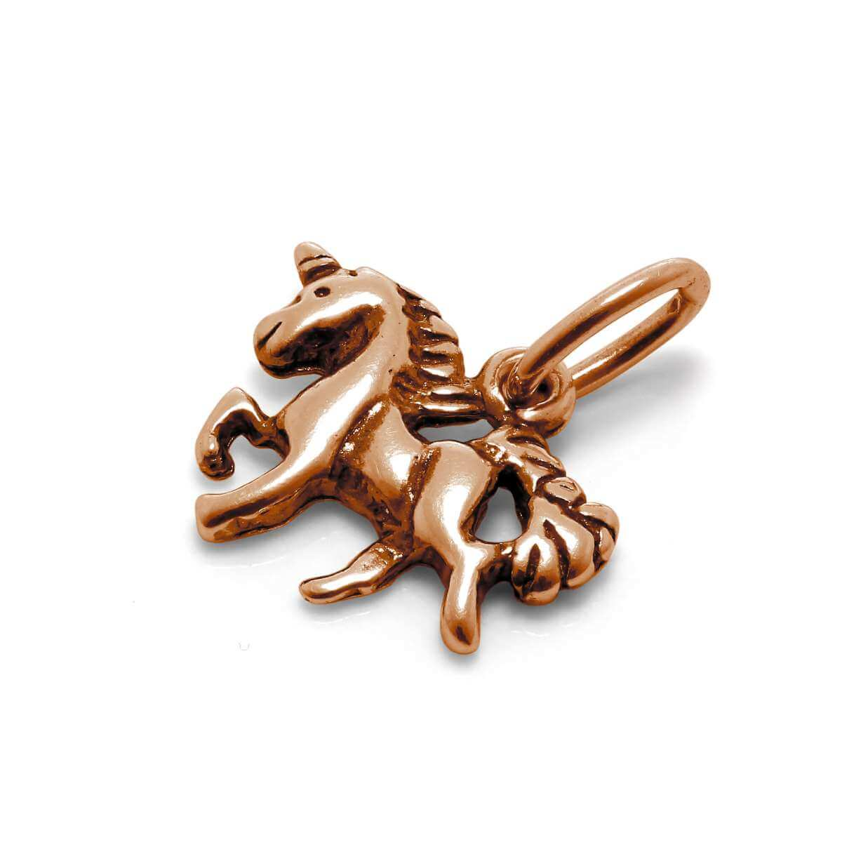 Tiny Rose Gold Plated Sterling Silver Unicorn Charm