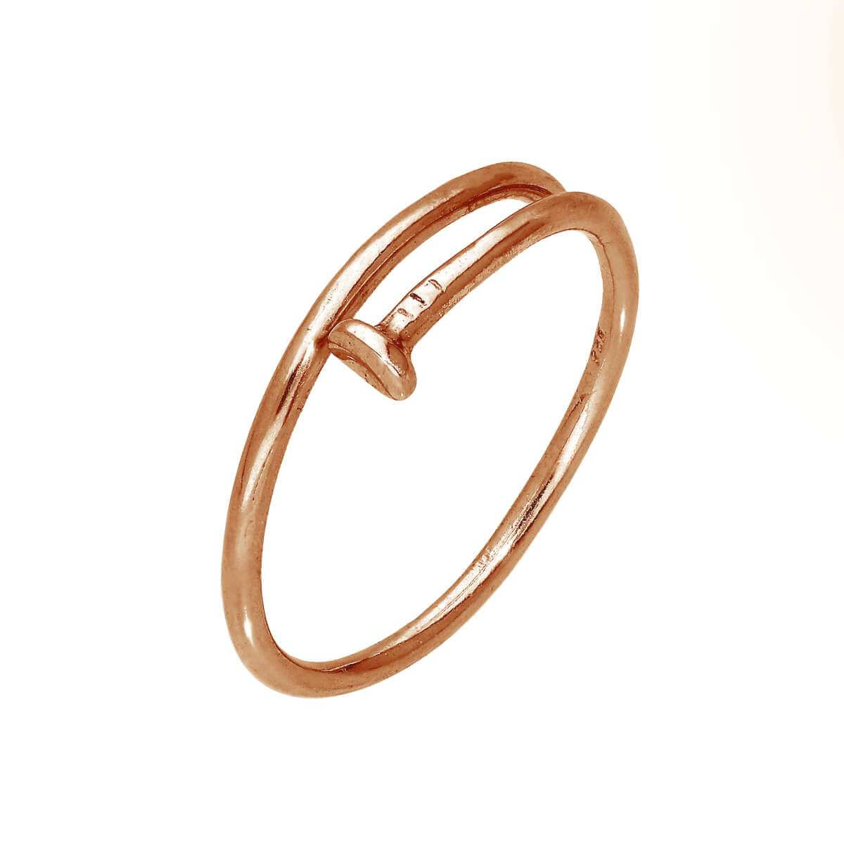 Rose Gold Plated Sterling Silver Nail Adjustable Toe Ring