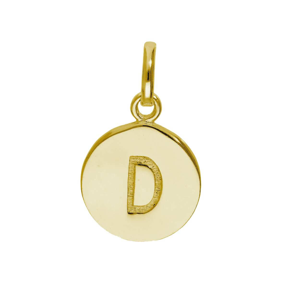 Gold Plated Sterling Silver Engravable Letter D Charm