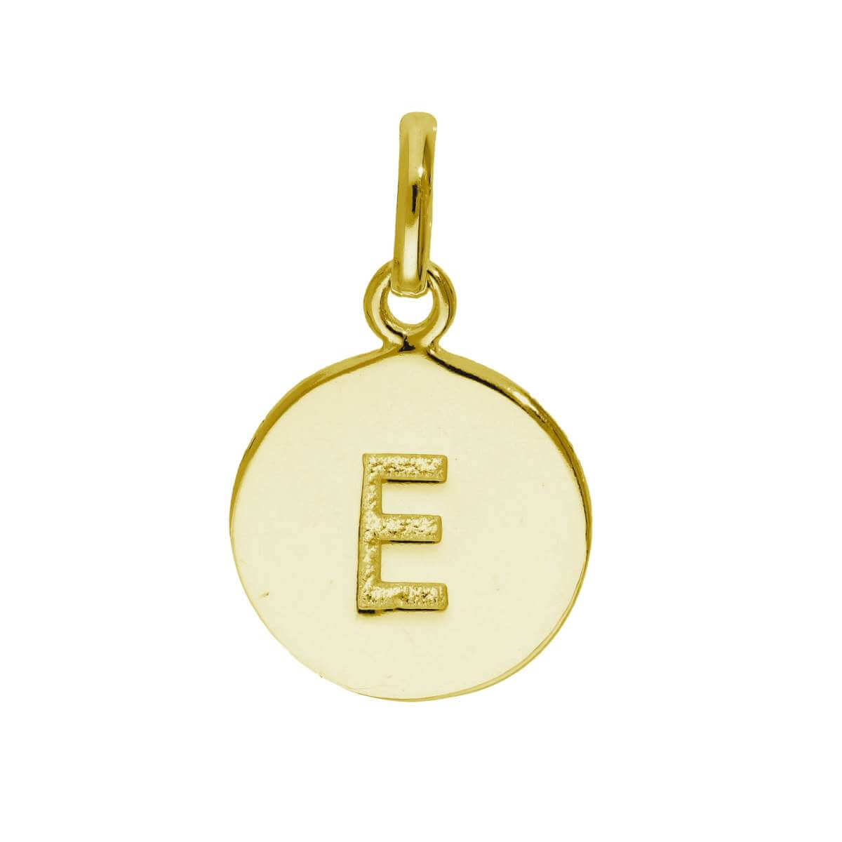 Gold Plated Sterling Silver Engravable Letter E Charm