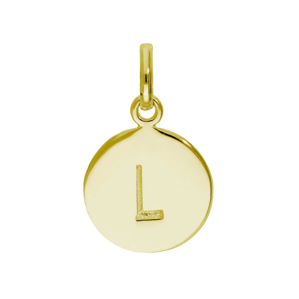 Gold Plated Sterling Silver Engravable Letter L Charm