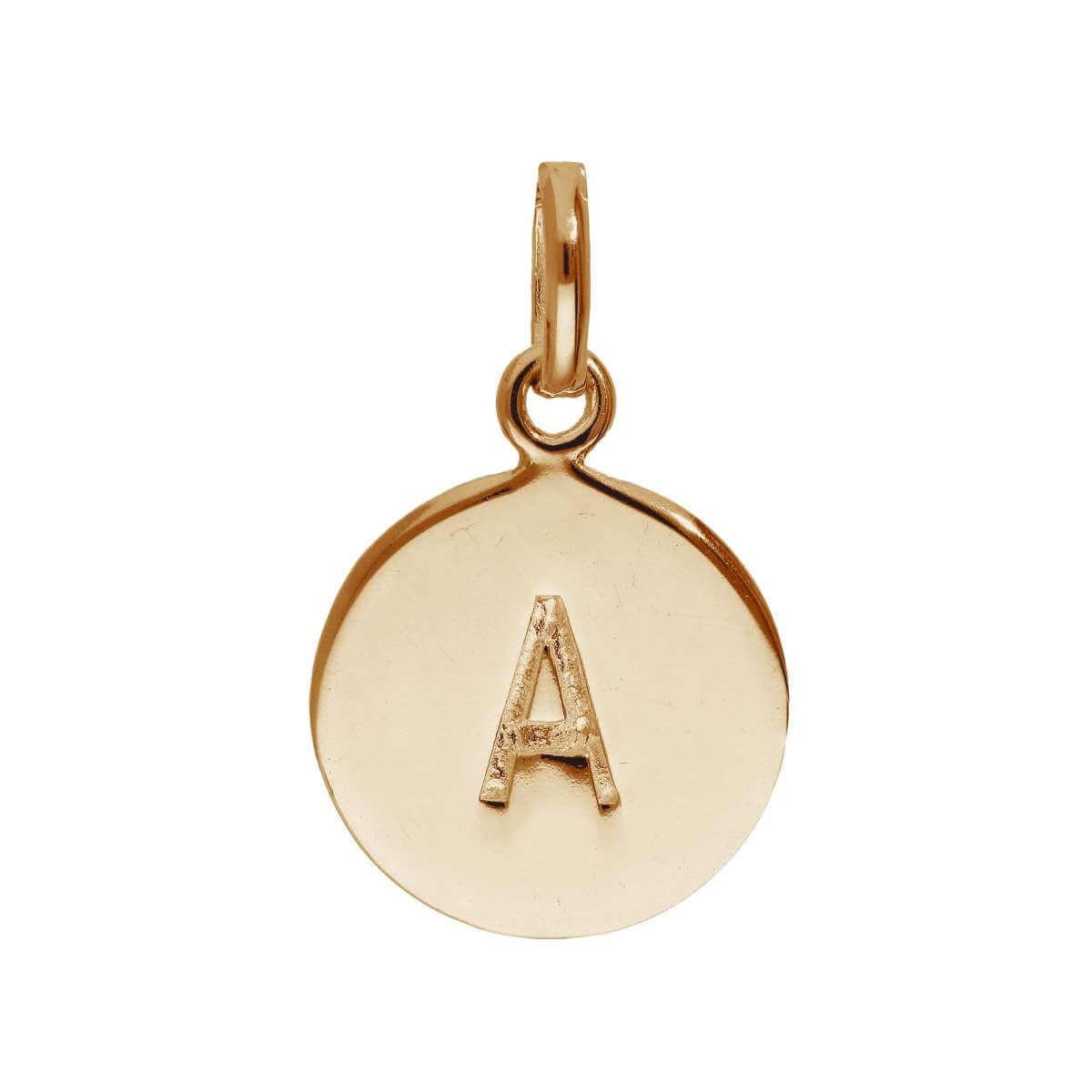 Rose Gold Plated Sterling Silver Engravable Letter A Charm