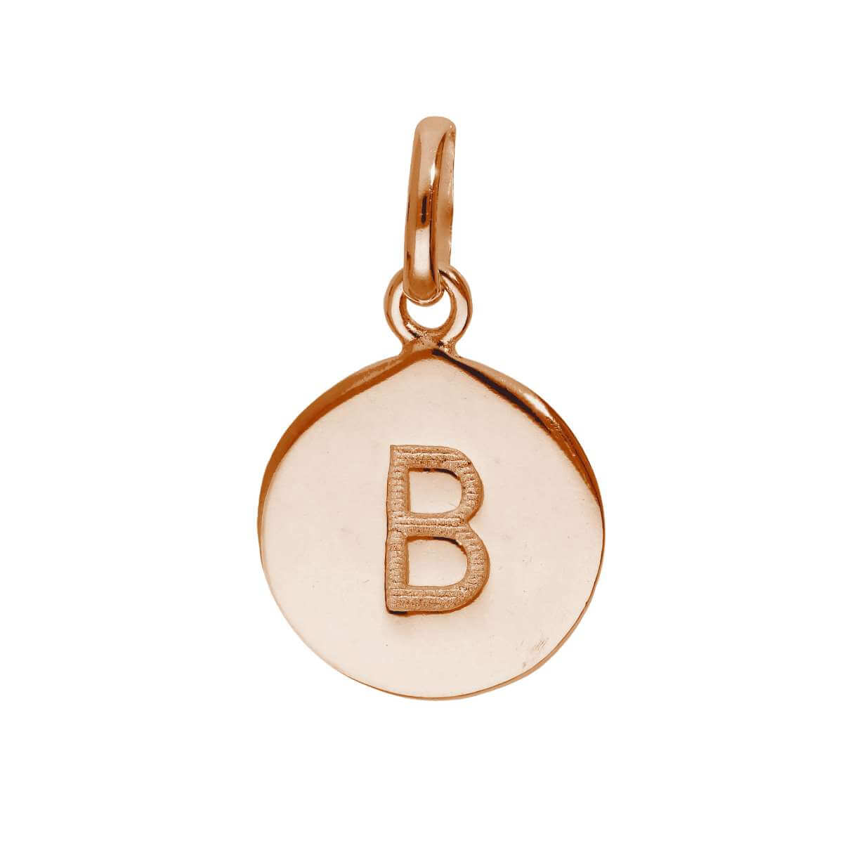 Rose Gold Plated Sterling Silver Engravable Letter B Charm