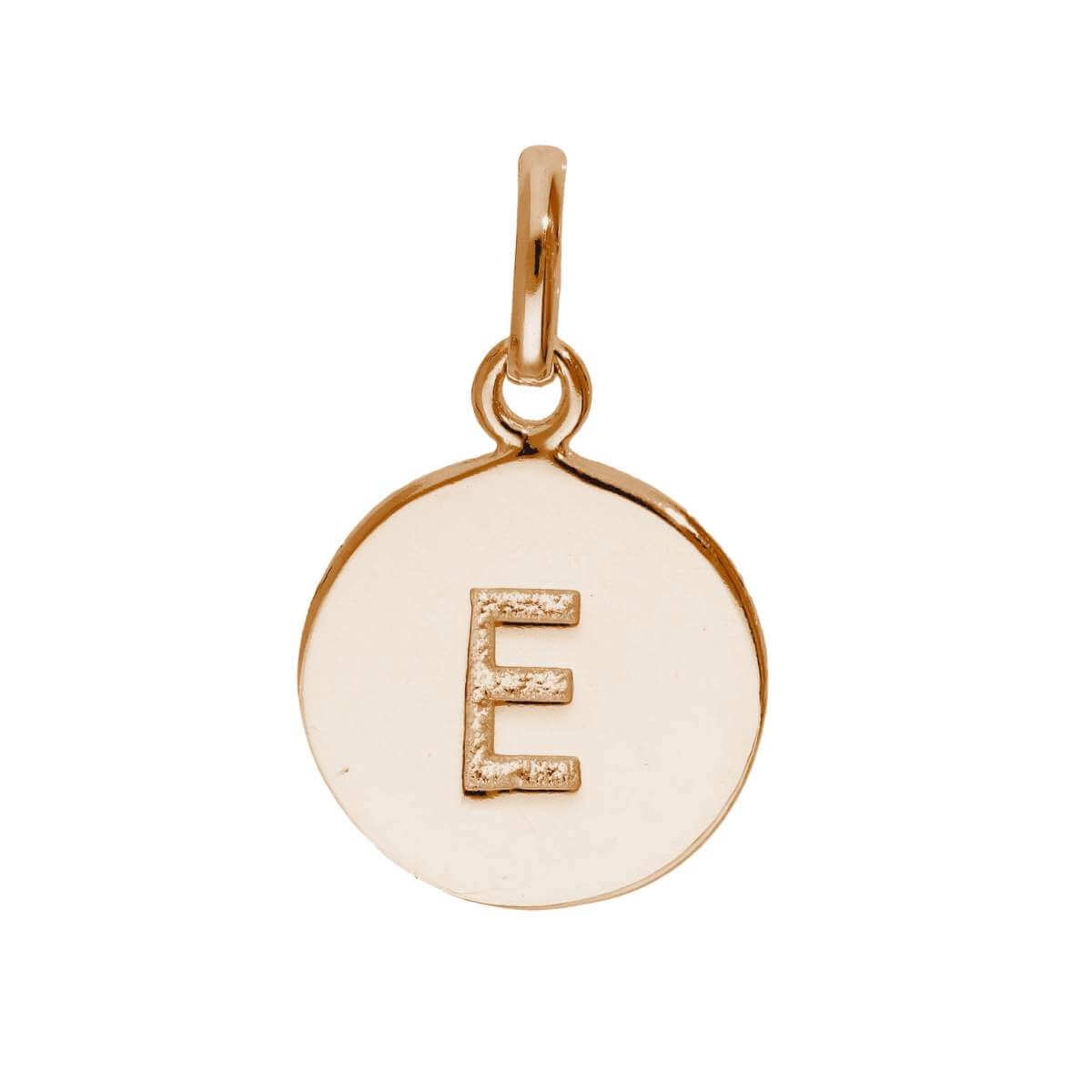 Rose Gold Plated Sterling Silver Engravable Letter E Charm