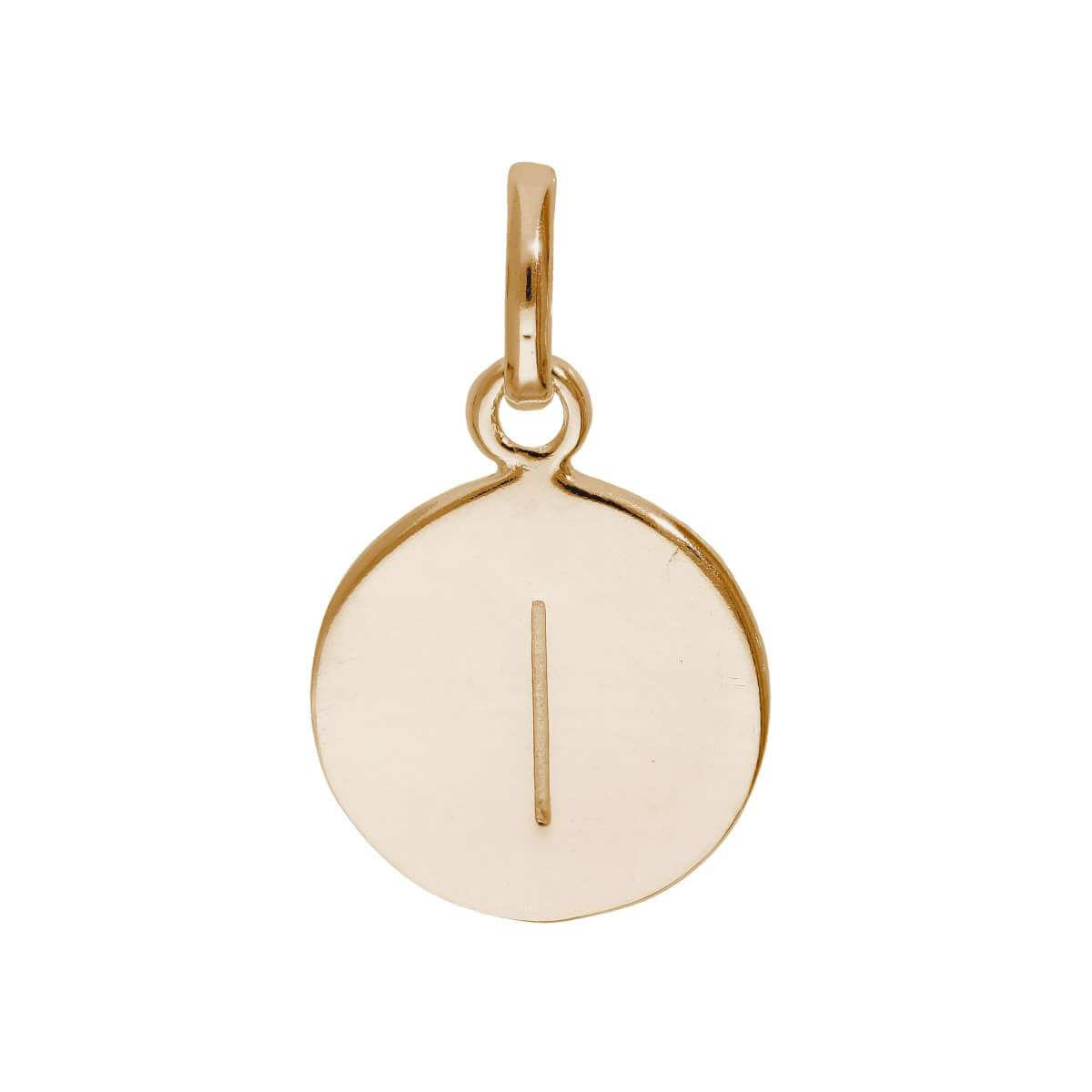 Rose Gold Plated Sterling Silver Engravable Letter I Charm