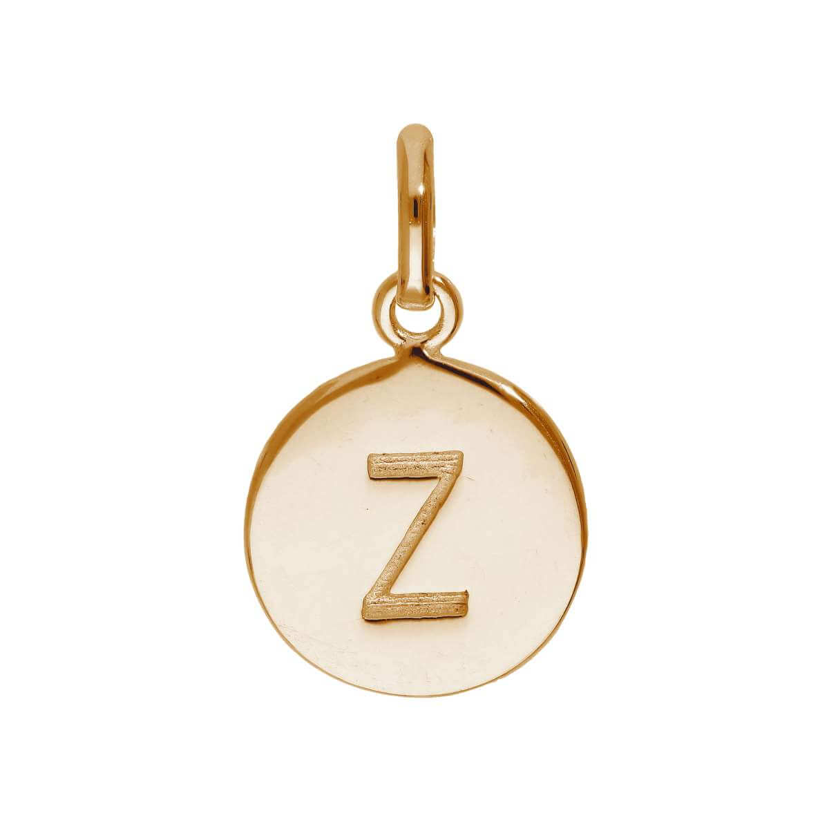 Rose Gold Plated Sterling Silver Engravable Letter Z Charm