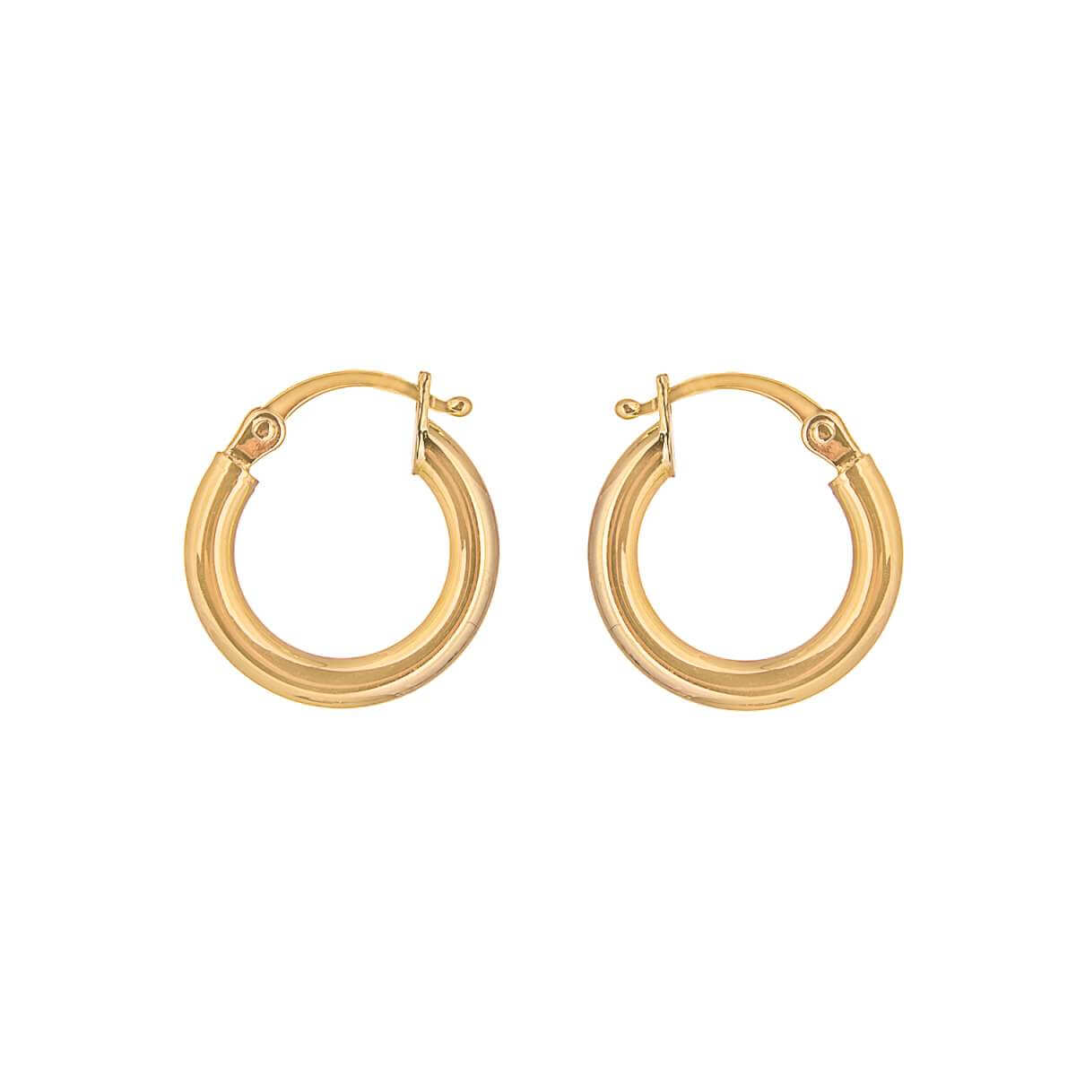 9ct Gold 10mm Lightweight Hinged Hollow Hoop Earrings