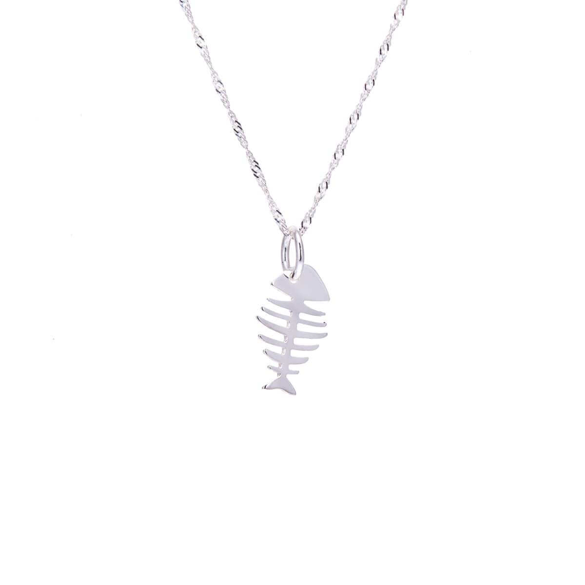 Sterling Silver Fish Bones Necklace 16 - 24 Inches