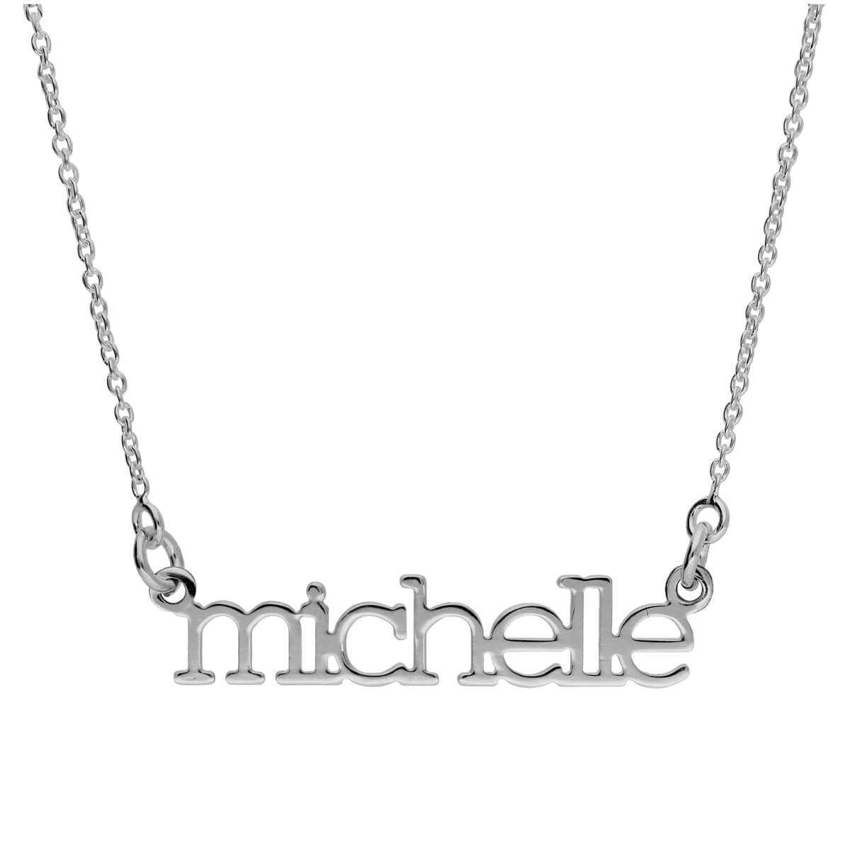 Bespoke Sterling Silver Personalised Name JB Necklace 17+1