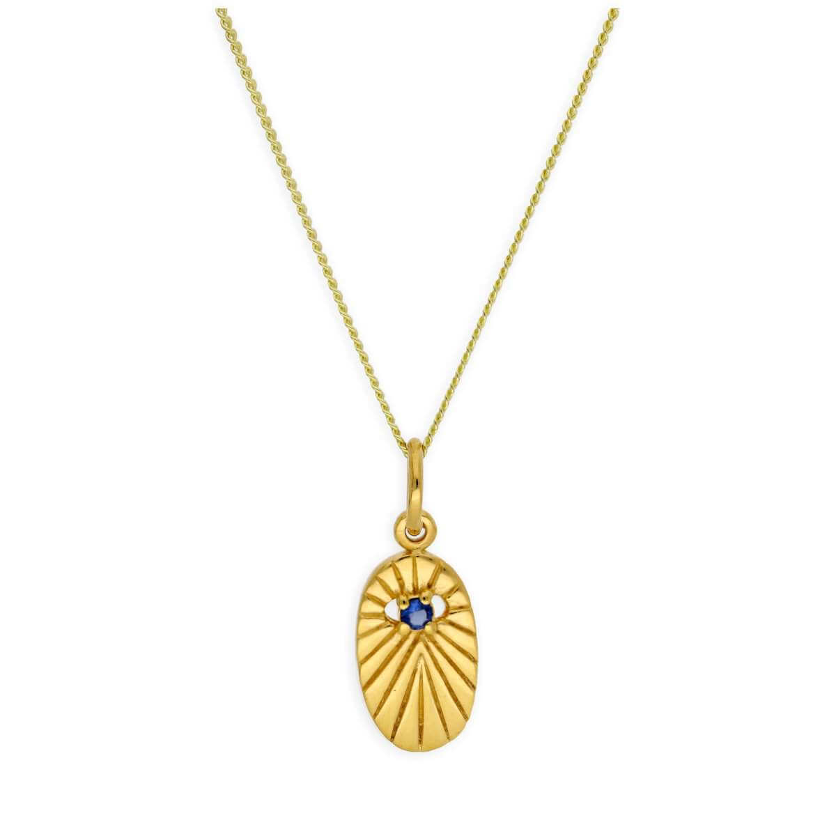 Gold Plated Sterling Silver Star Oval Medallion Necklace 14-32 Inches
