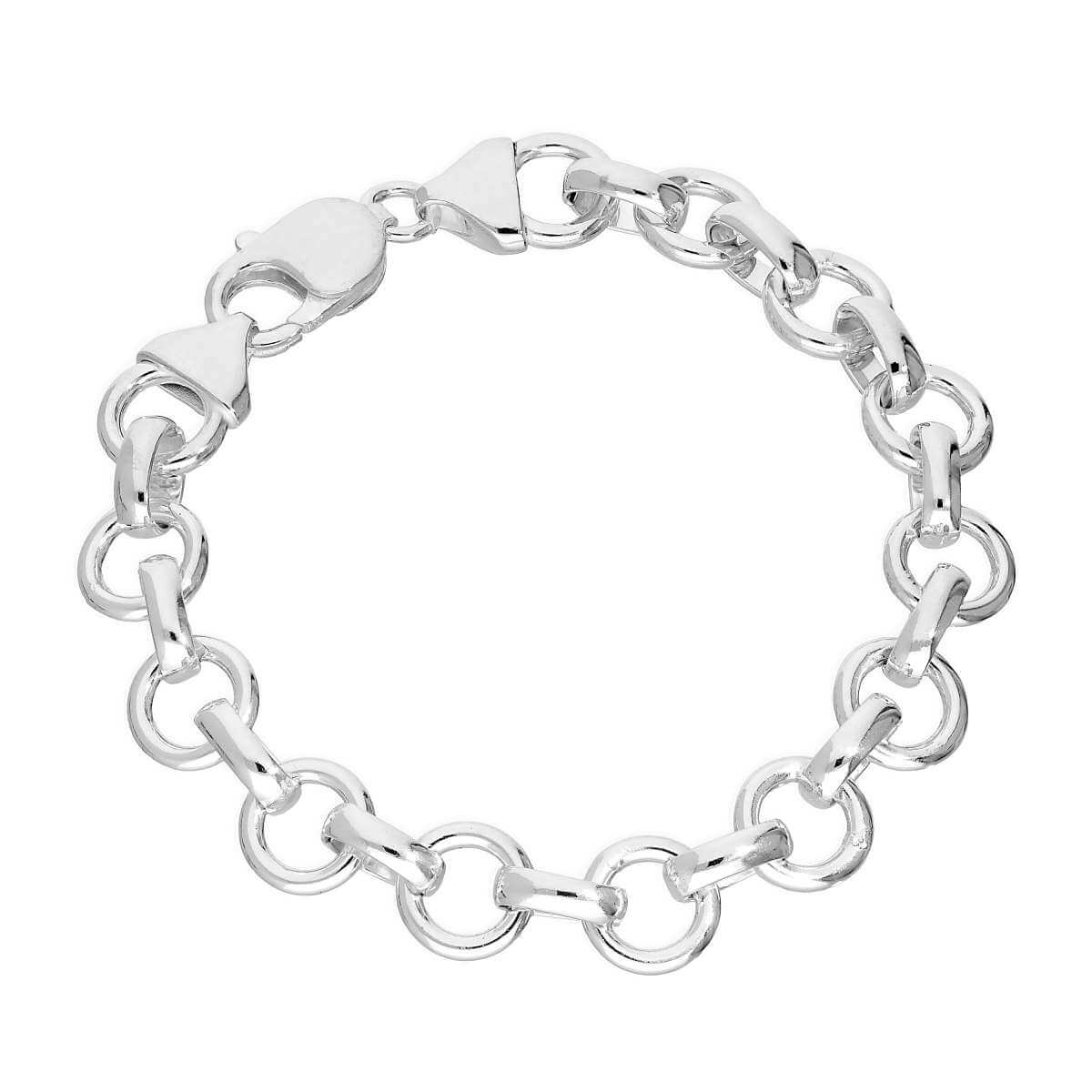 Sterling Silver 7.5 Inch Thick 7mm Curb Bracelet