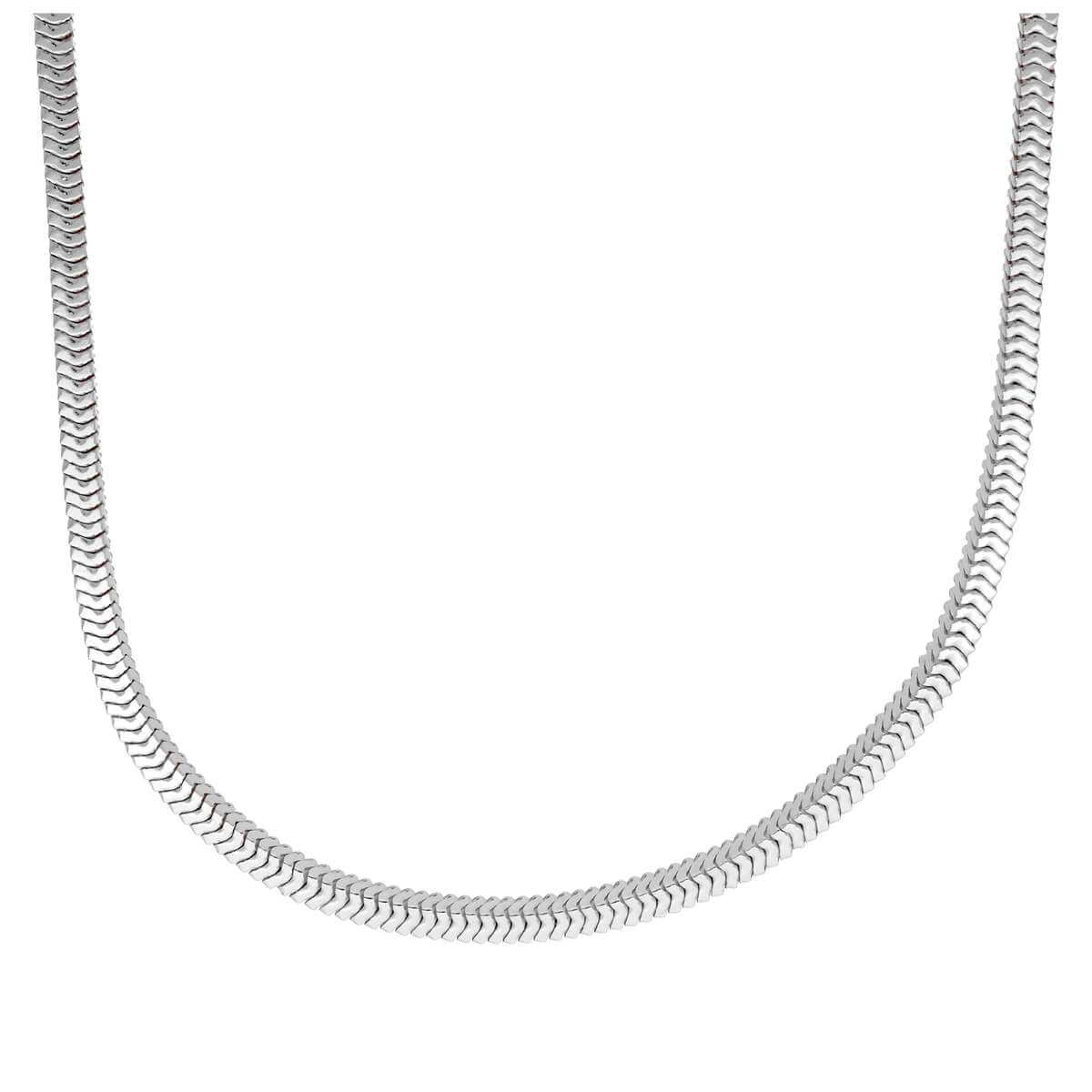 Sterling Silver Square Snake Chain Necklace 16 - 18 Inches