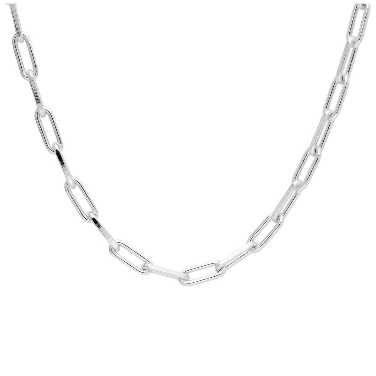 Sterling Silver Long Link Chain Choker Necklace 14-16 Inches