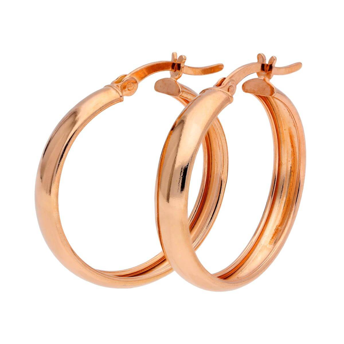 Rose Gold Plated Sterling Silver Creole 25mm Hoop Earrings