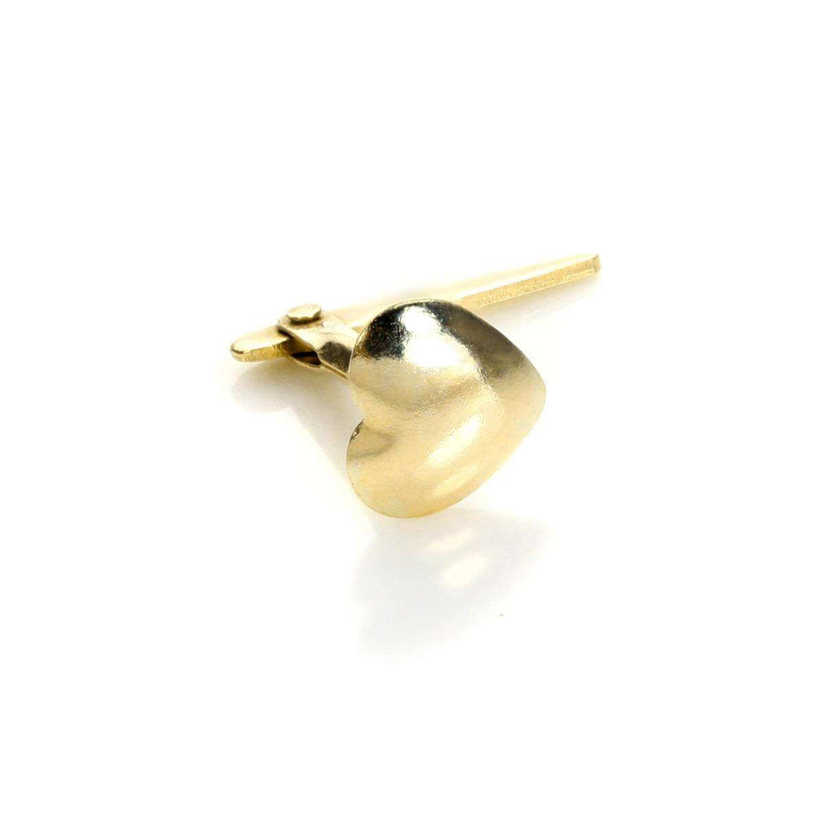 Andralok 9ct Yellow Gold Heart Nose Stud