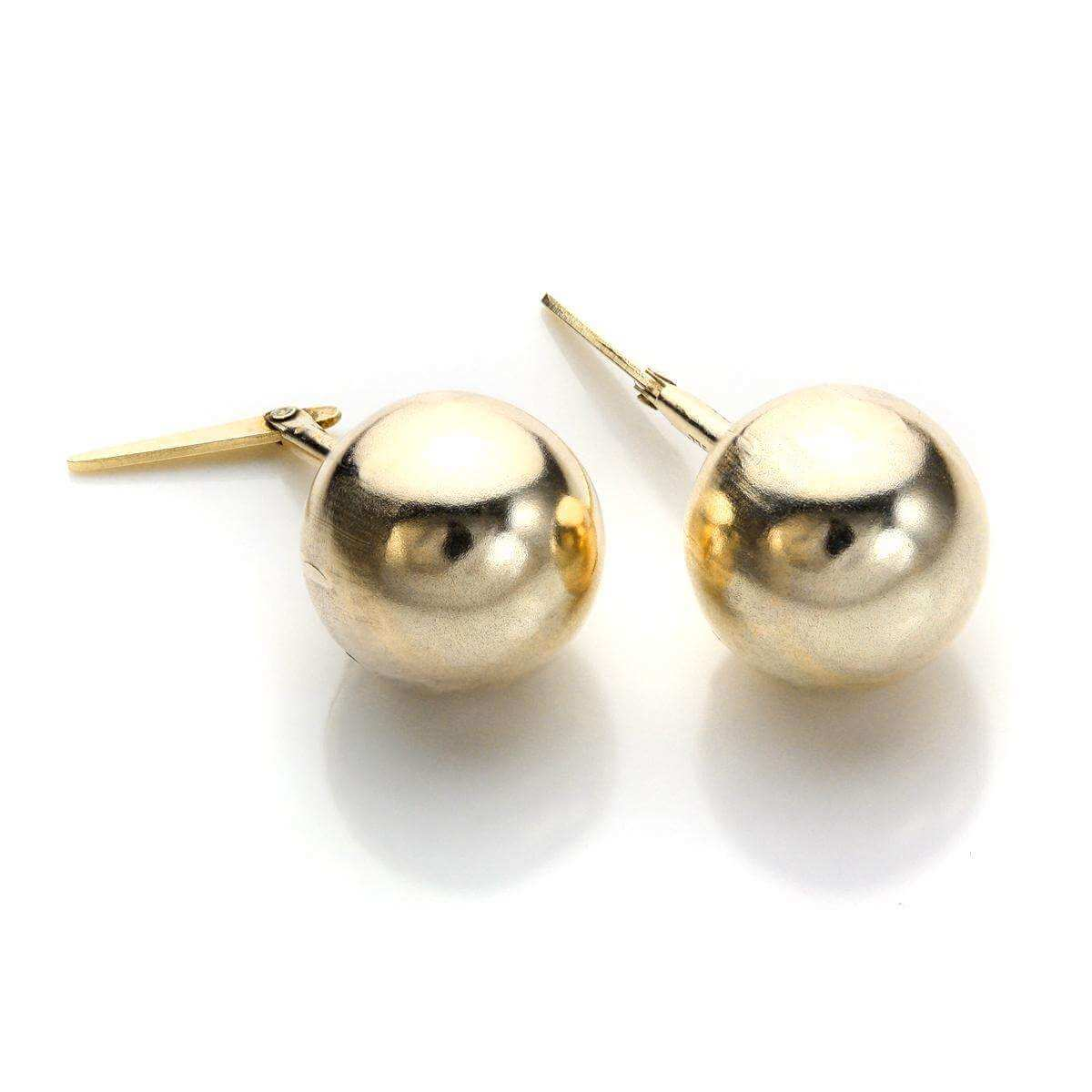 9ct Yellow Gold Andralok 8mm Ball Stud Earrings