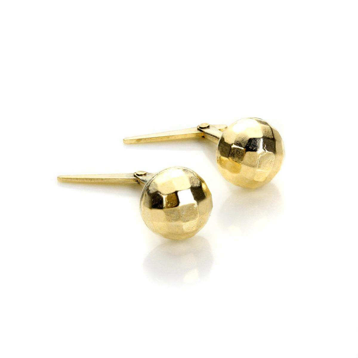 Andralok 9ct Yellow Gold Small Faceted Stud Earrings