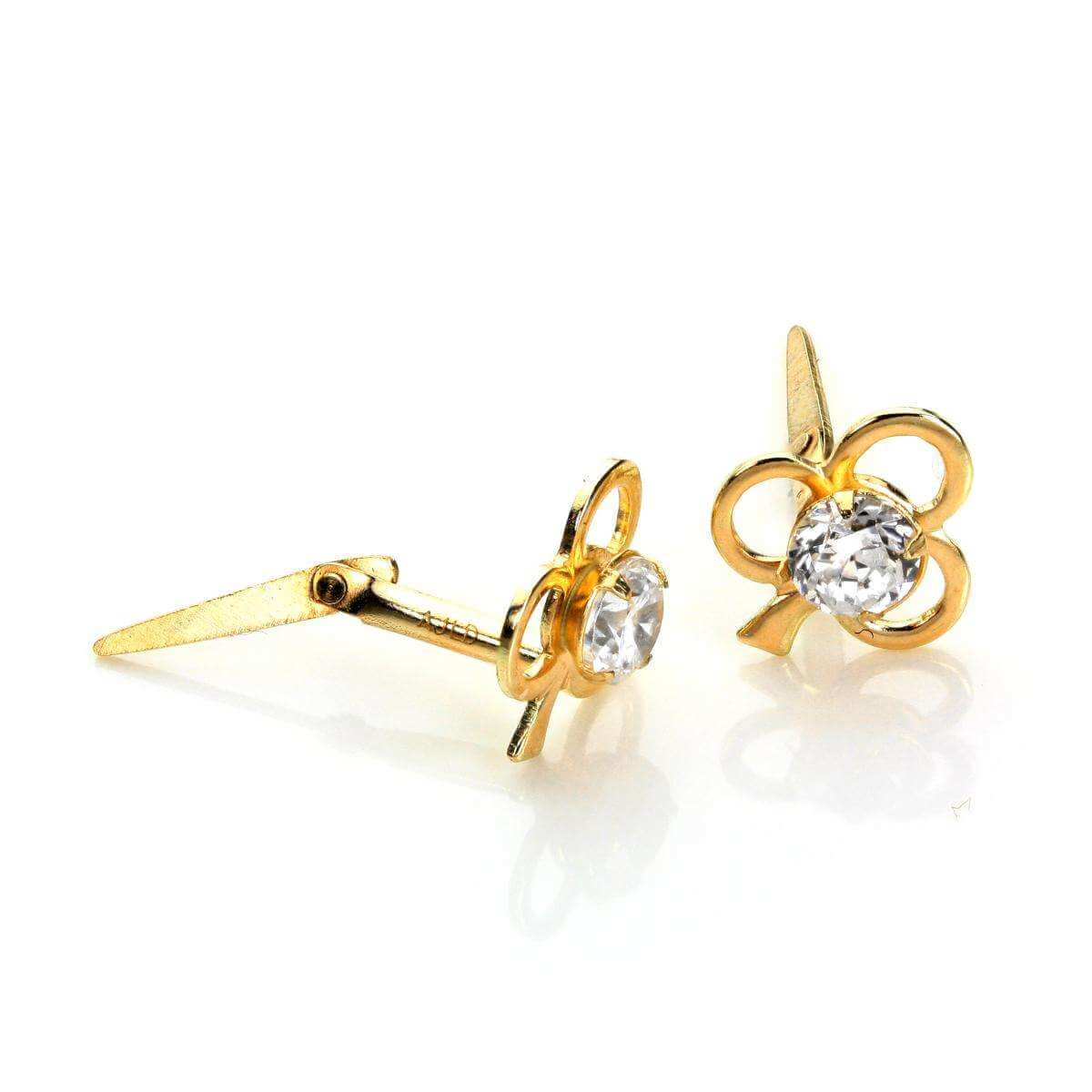 Andralok 9ct Yellow Gold Ace of Clubs 3mm Stud Earrings