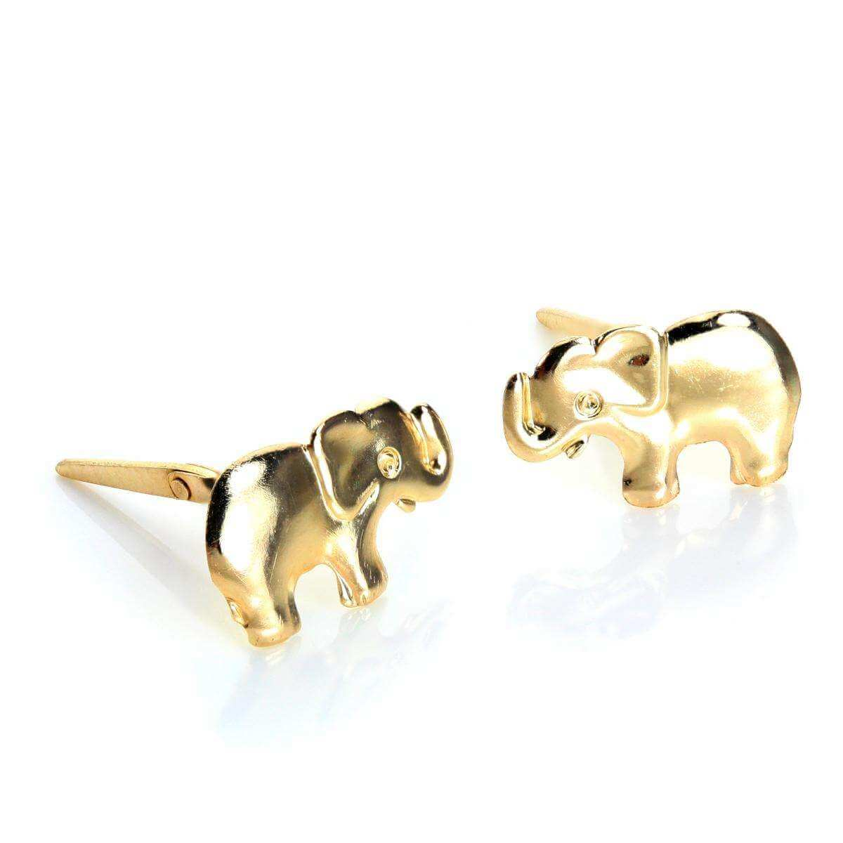 Andralok 9ct Yellow Gold Elephant Stud Earrings