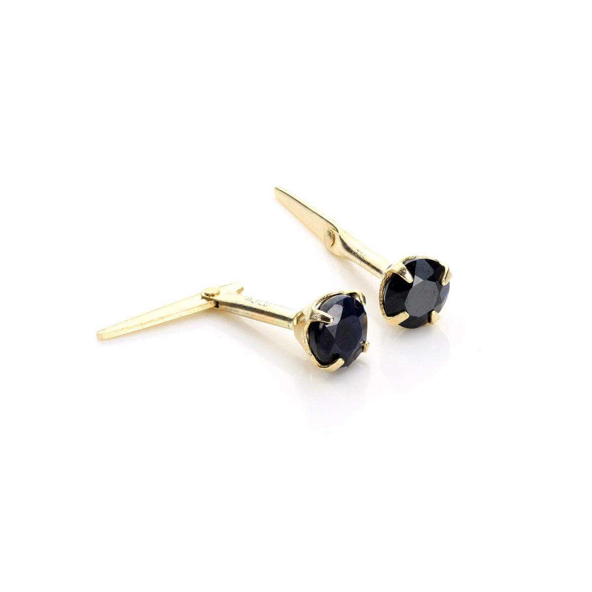 Andralok 9ct Yellow Gold Sapphire 3.5mm Round Stud Earrings