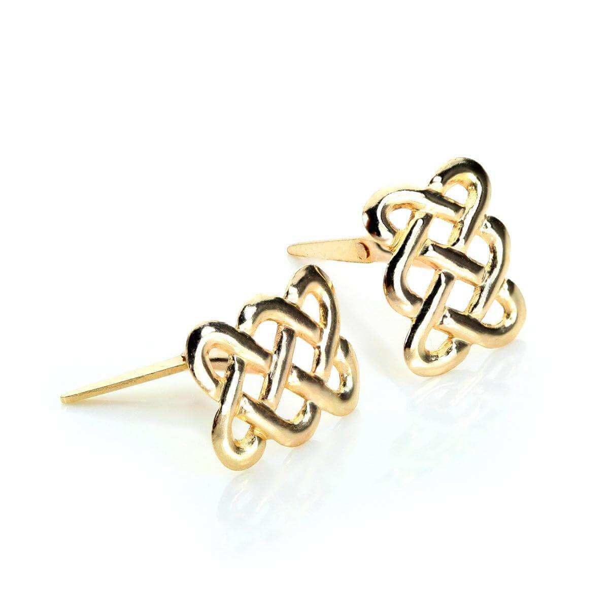 Andralok 9ct Yellow Gold Celtic Knot Stud Earrings