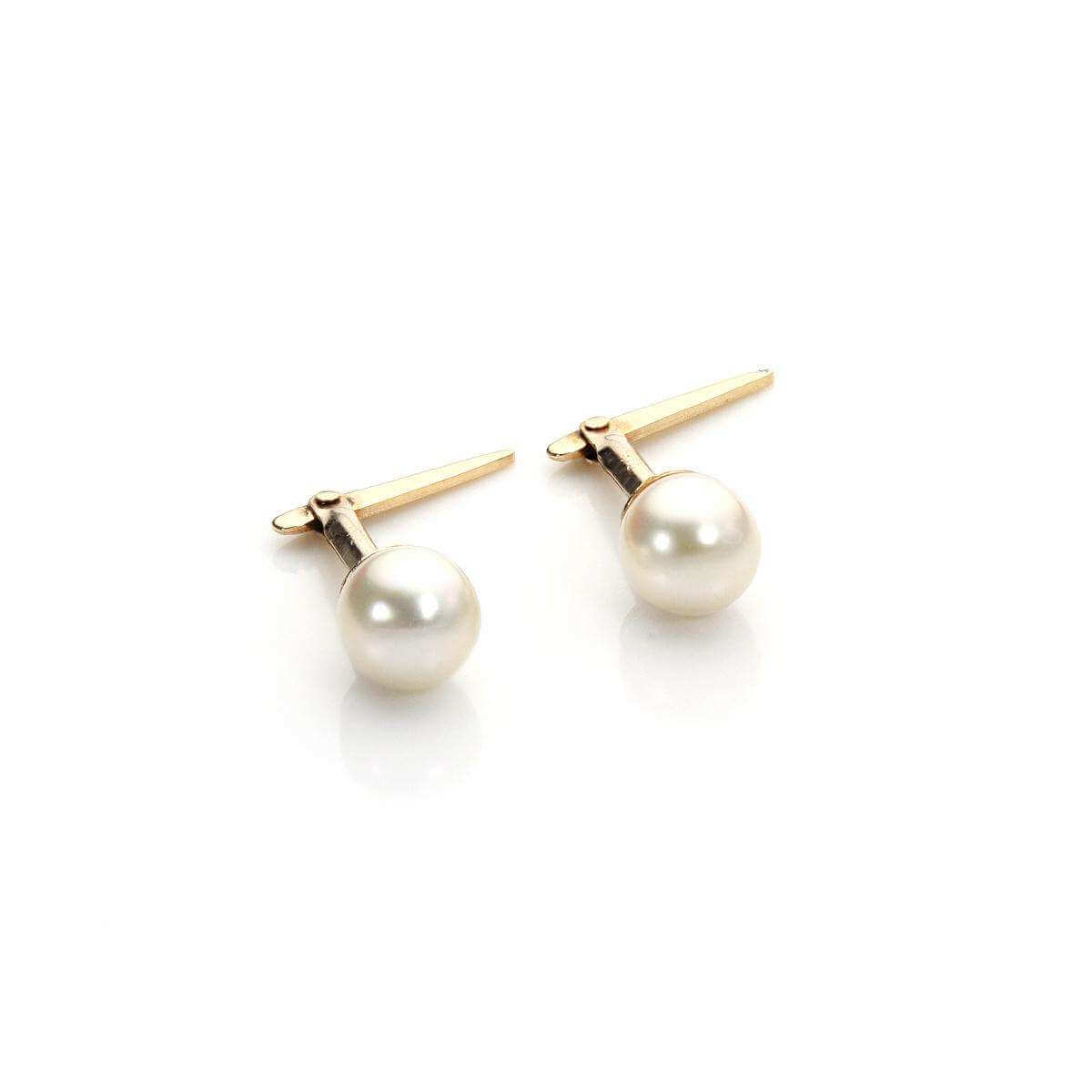 Andralok 9ct Yellow Gold Cultured Pearl 4mm Stud Earrings