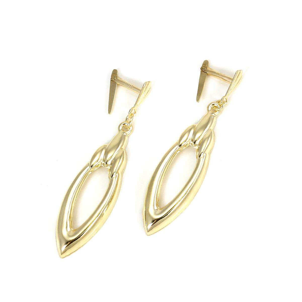 Andralok 9ct Yellow Gold Oval Drop Earrings
