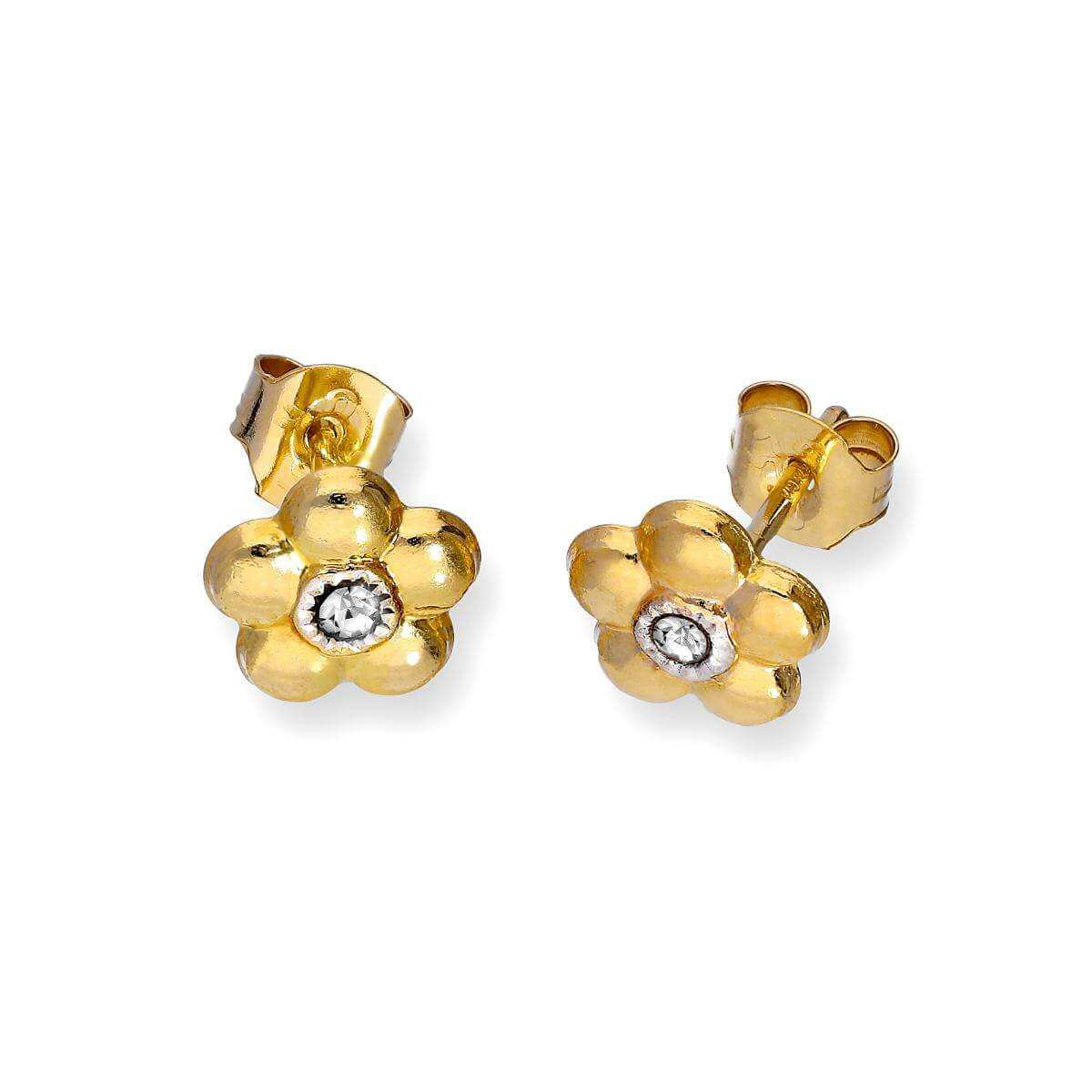 diamond oro and flat gold yellow studs products stud tiny white vrai