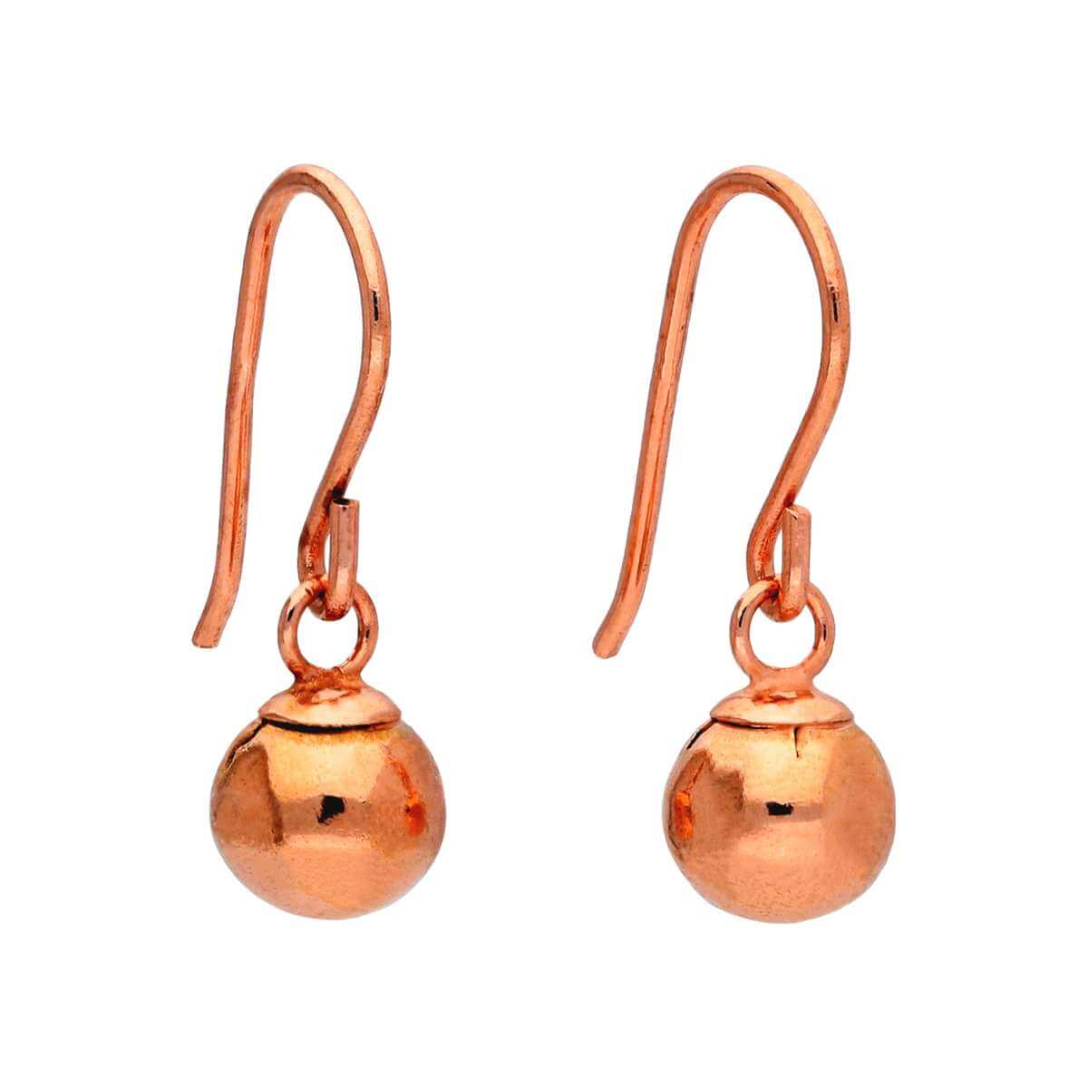 9ct Rose Gold Dangle Earrings