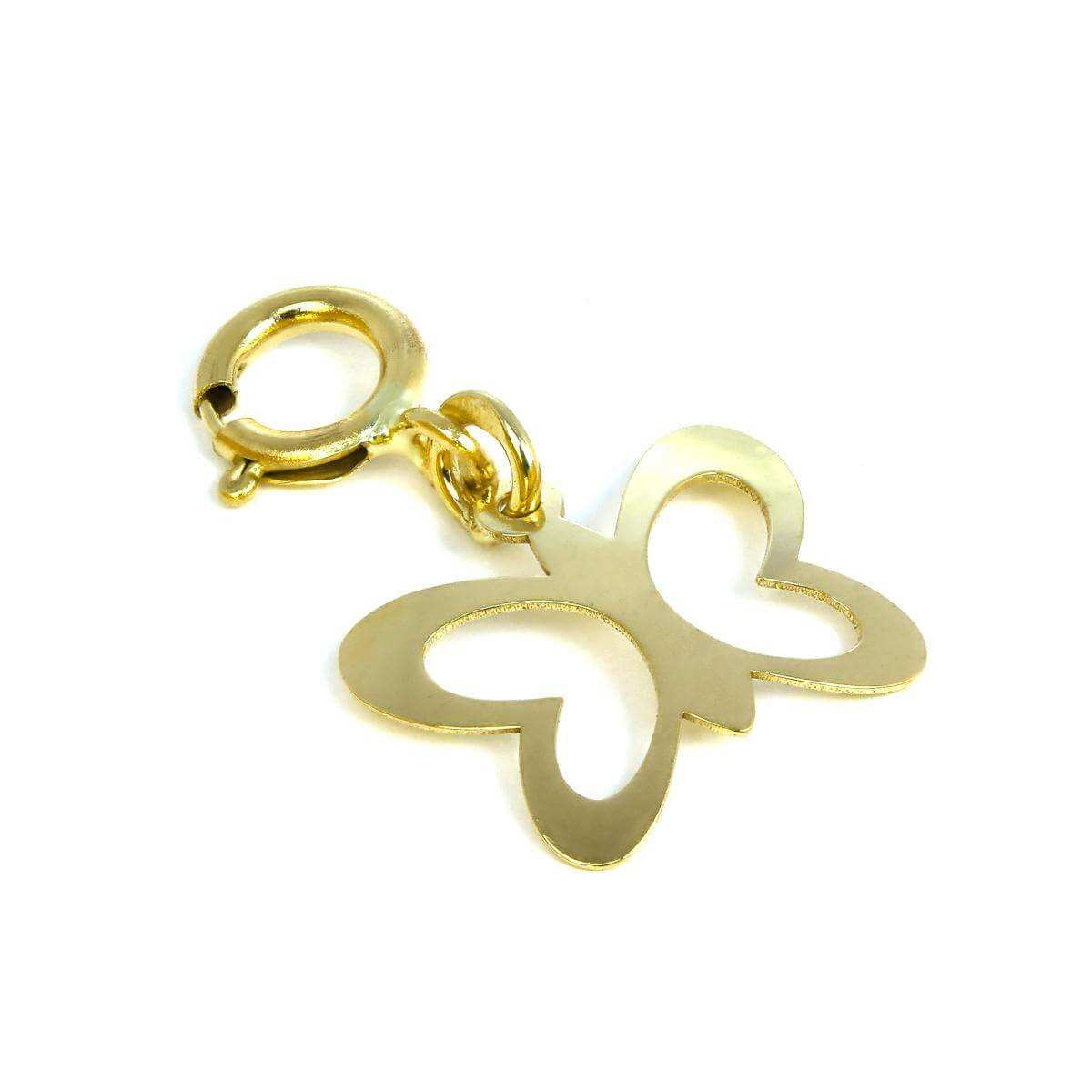 9ct Gold Cut Out Butterfly Clip on Charm