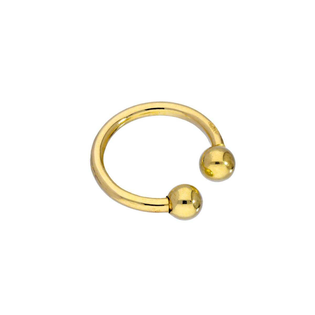 9ct Gold Ball End Small Ear Cuff