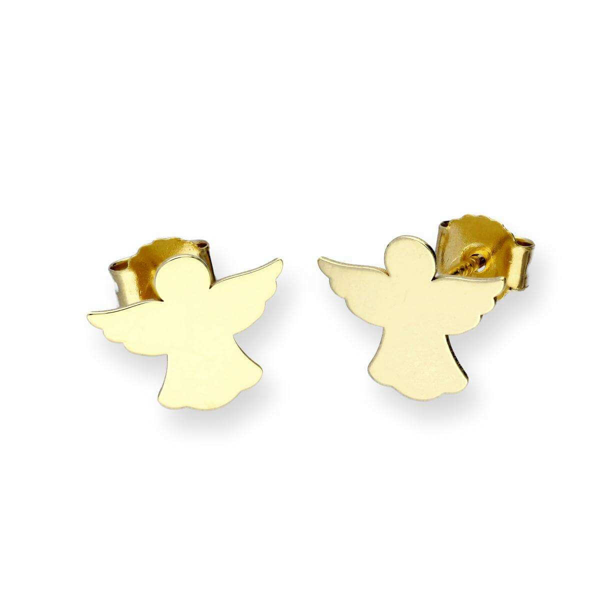 9ct Gold Angel Stud Earrings