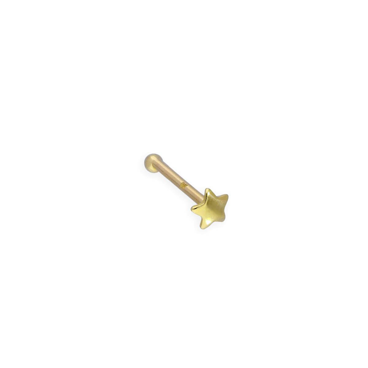 9ct Gold 22Ga Star Nose Stud