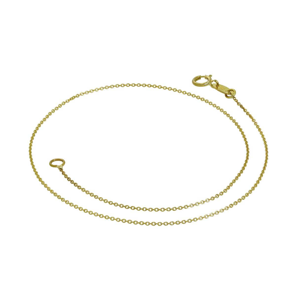 9ct Gold 9.5 Inch Curb Anklet