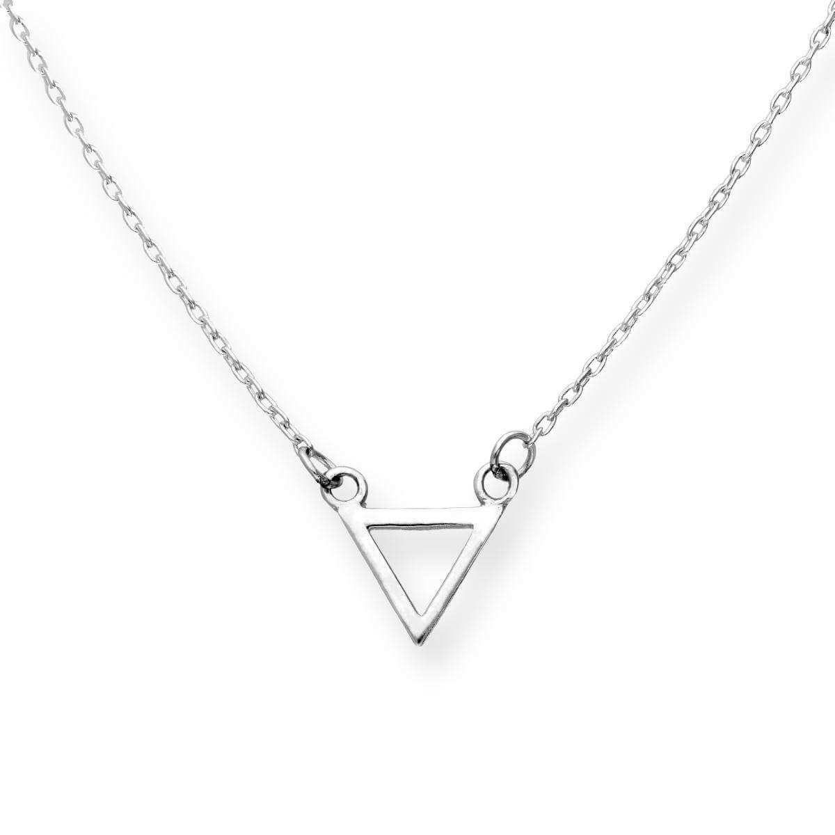 Sterling Silver Triangle 18 Inch Necklace