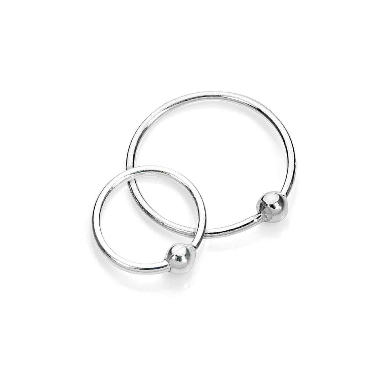 Sterling Silver BCR Nose Ring