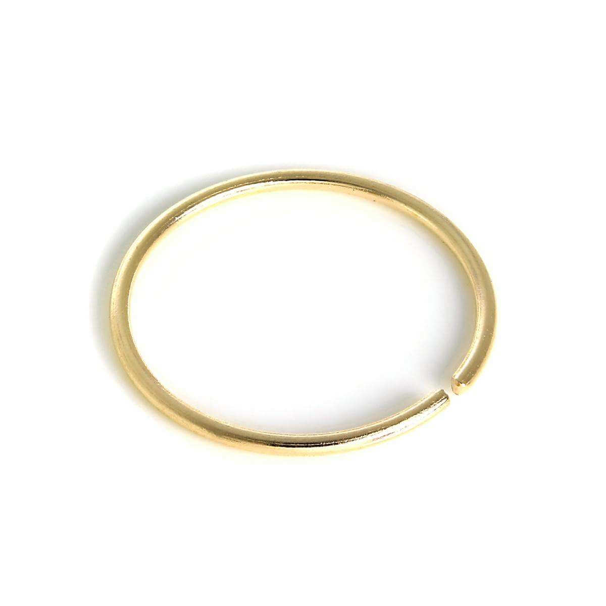 9ct Gold 8mm Nose Hoop Ring