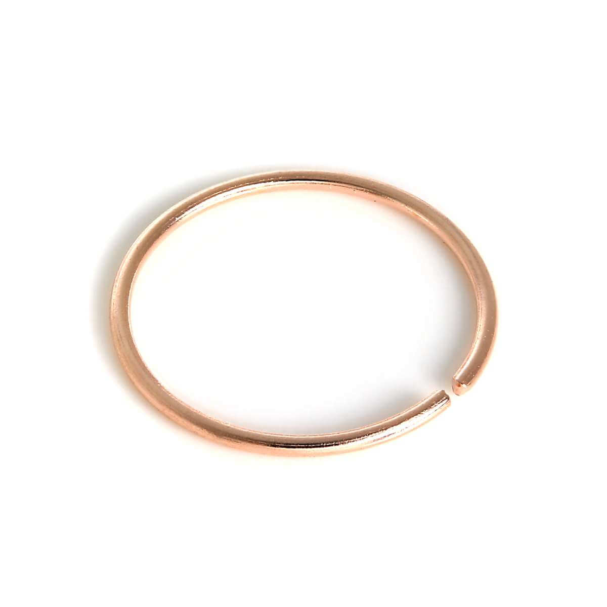 9ct Rose Gold 8mm Nose Hoop Ring