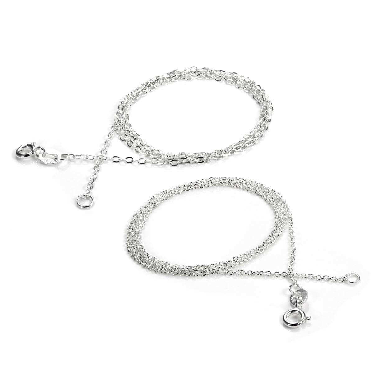 Sterling Silver 18 inch Textured Chain Set