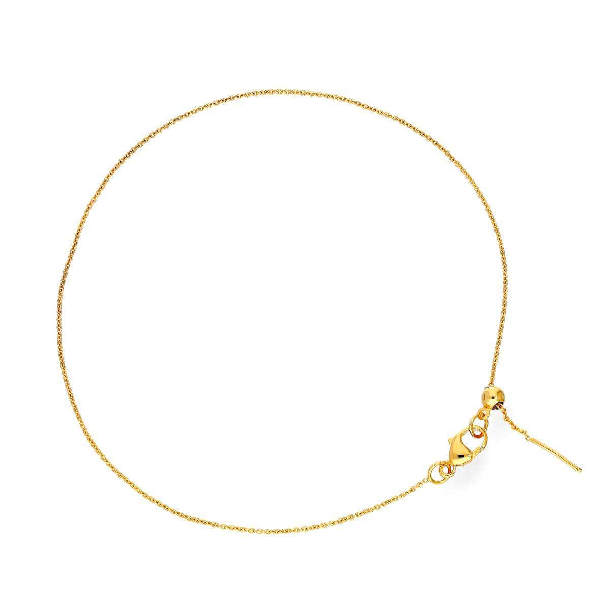 9ct Gold Adjustable 7.5 Inch Bracelet