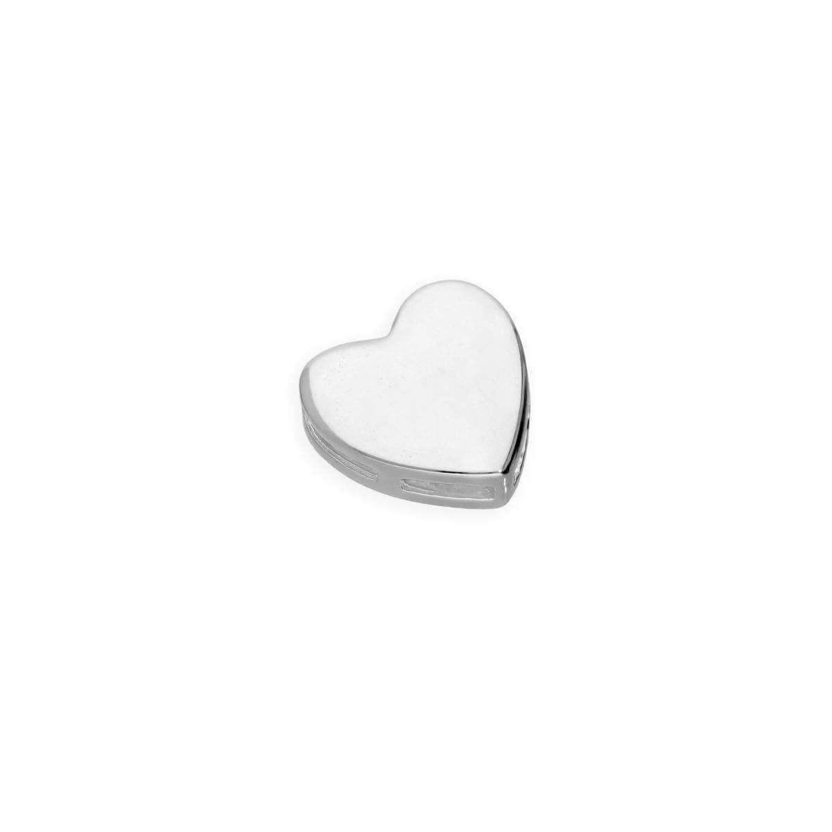 Sterling Silver Floating Heart Charm