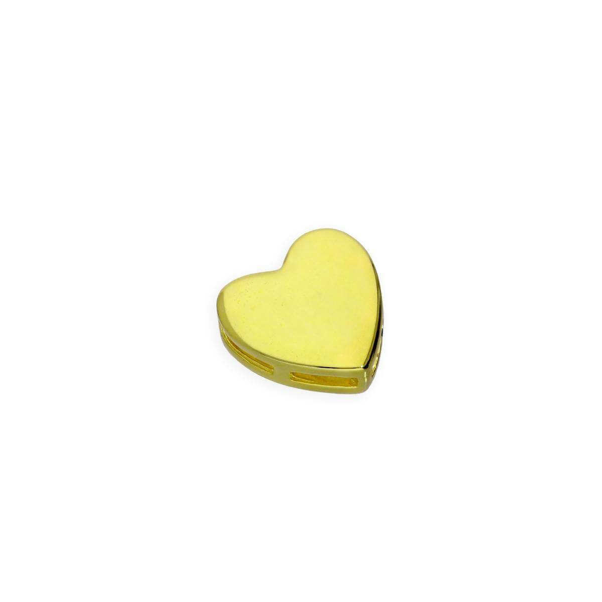 Gold Plated Sterling Silver Floating Heart Charm