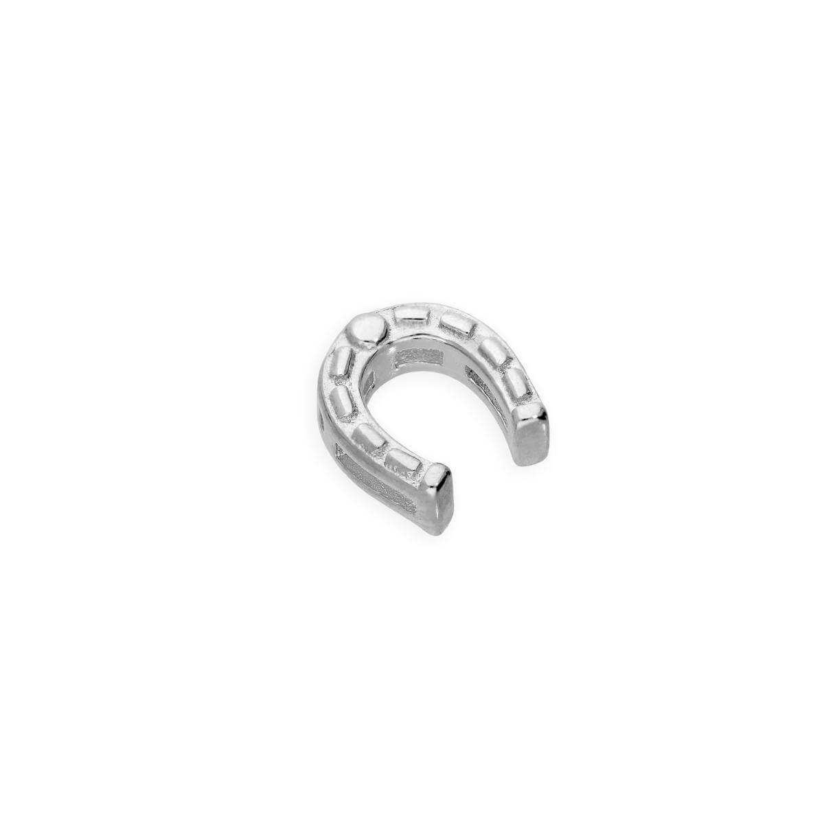 Sterling Silver Floating Lucky Horseshoe Charm