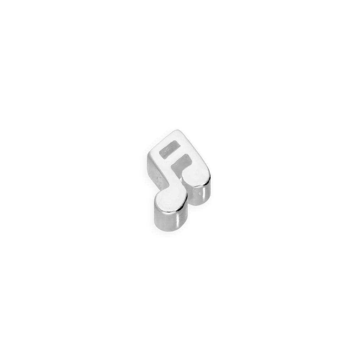 Sterling Silver Floating Music Note Charm