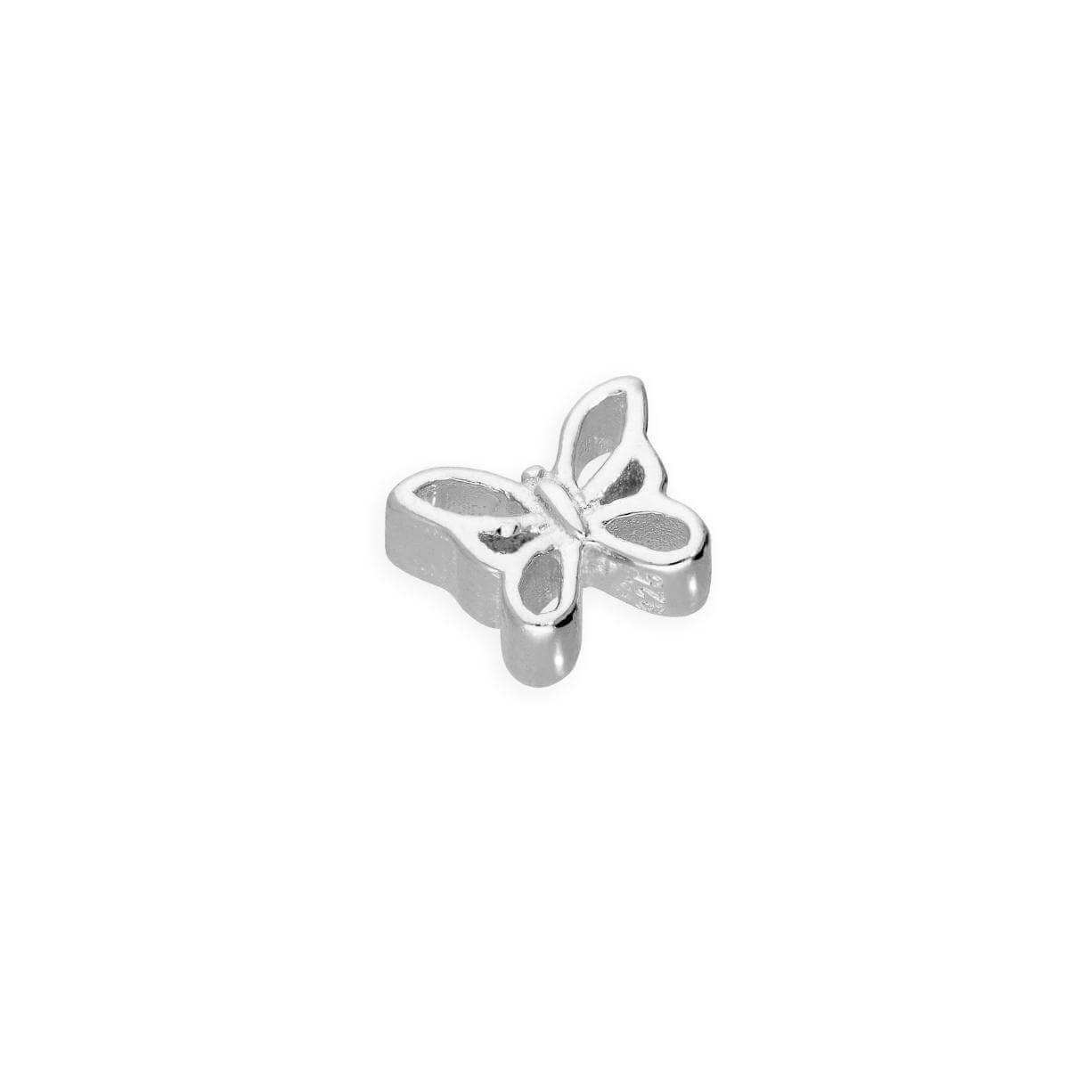 Sterling Silver Floating Open Butterfly Charm