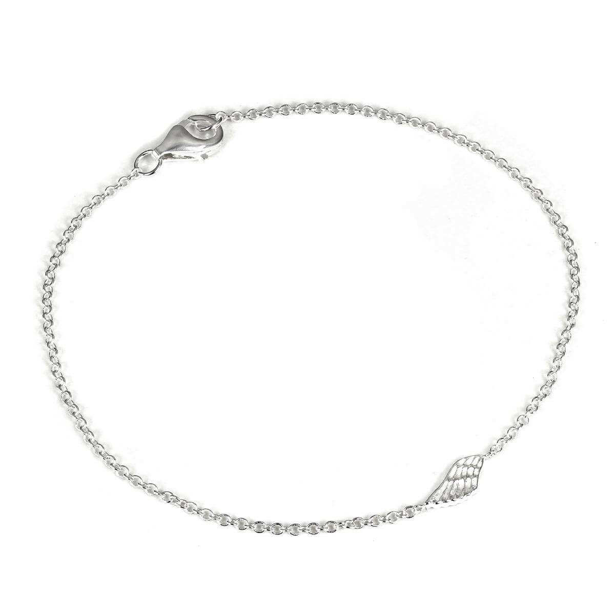 be62fc785ec Sterling Silver 7 Inch Fine Belcher Bracelet with Angel Wing Charm & Clasp  | JewelleryBox.co.uk