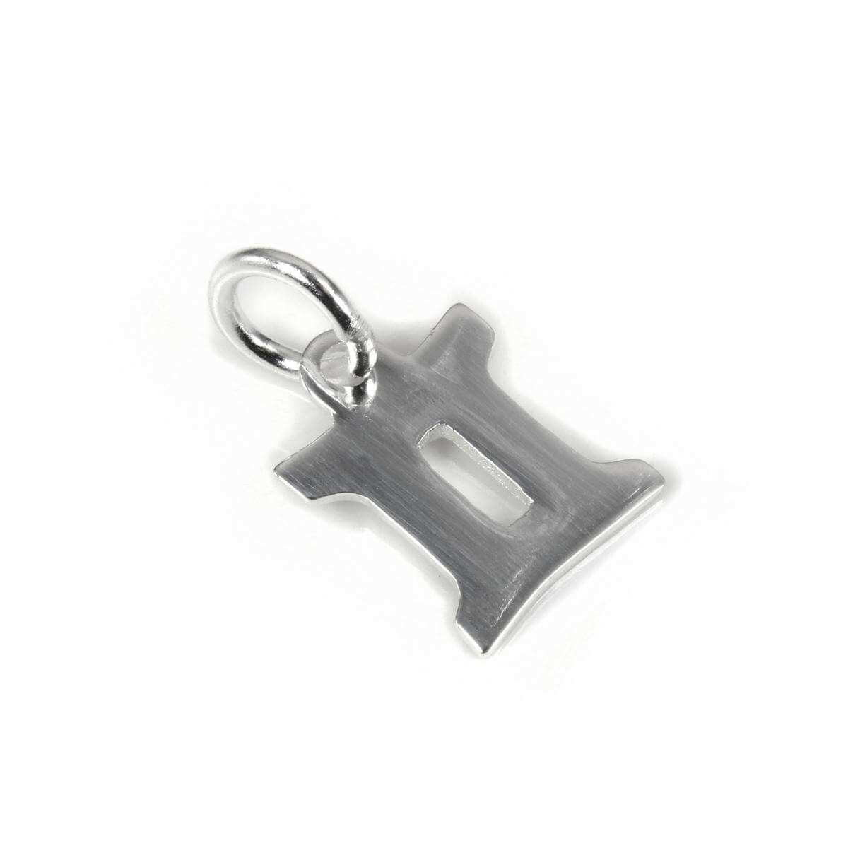 Small Sterling Silver 2D Gemini Symbol Charm