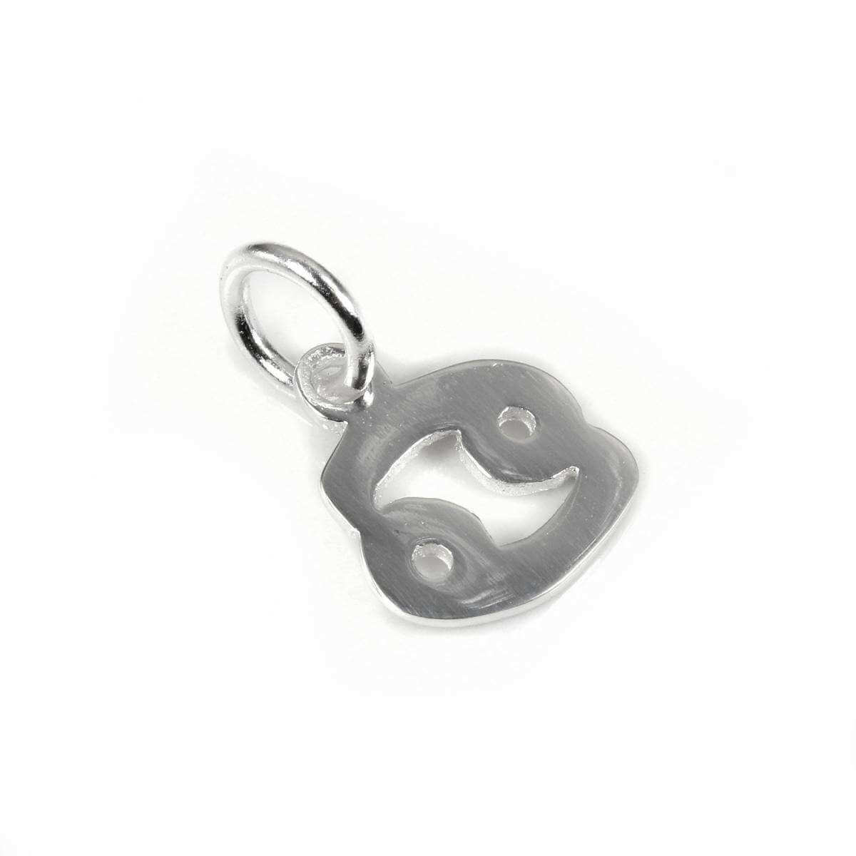 Small Sterling Silver 2D Cancer Symbol Charm