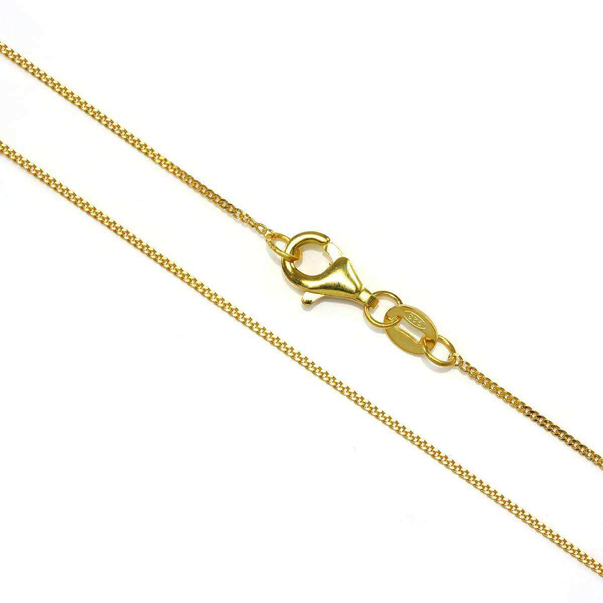 Gold Dipped Sterling Silver Fine Diamond Cut Curb Chain