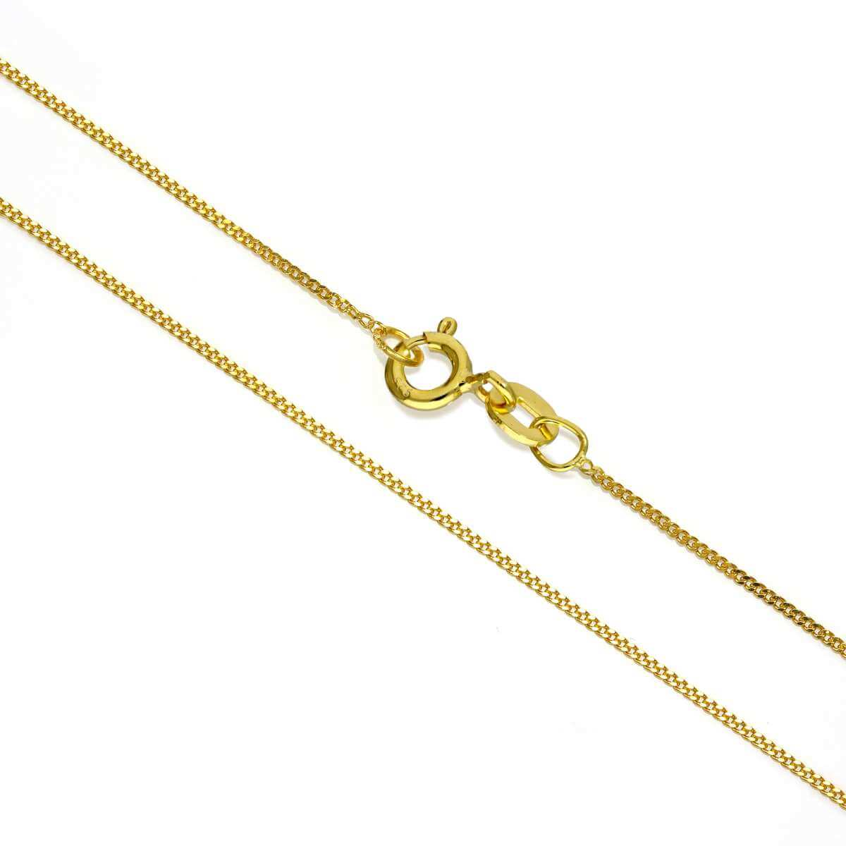 Gold Plated Sterling Silver Fine Diamond Cut Curb Chain